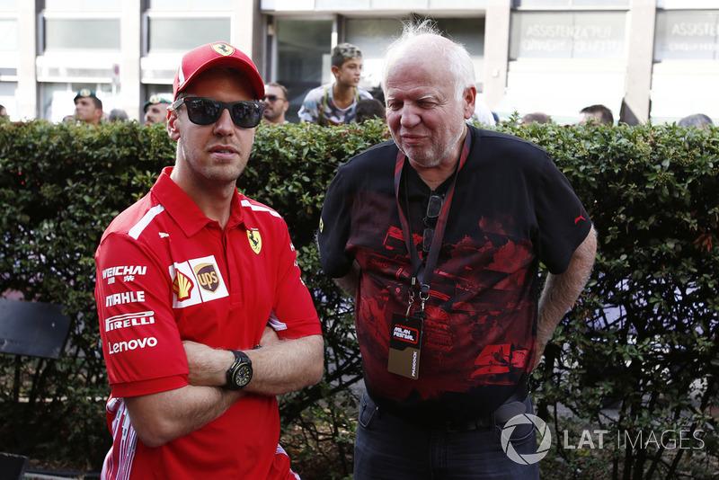 Sebastian Vettel, Ferrari with his Father Norbert Vettel