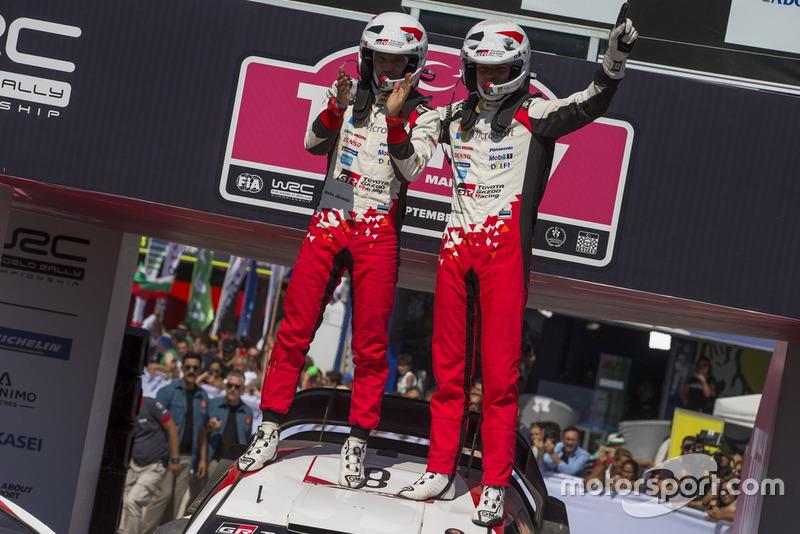 I vincitori Ott Tänak, Martin Järveoja, Toyota Gazoo Racing WRT Toyota Yaris WRC