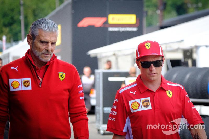 Kimi Raikkonen, Ferrari, Maurizio Arrivabene, Team Principal, Ferrari