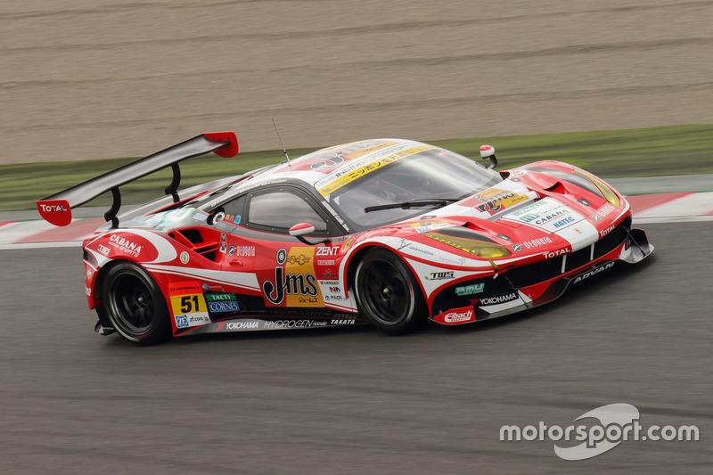 #51 LM corsa Ferrari 488 GT3: Akihiro Tsuzuki, Morio Nitta, Shigekazu Wakisaka