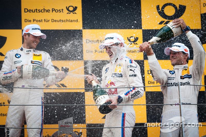 Podium: Sieger Marco Wittmann, BMW Team RMG, BMW M4 DTM; 2. Tom Blomqvist, BMW Team RBM, BMW M4 DTM;