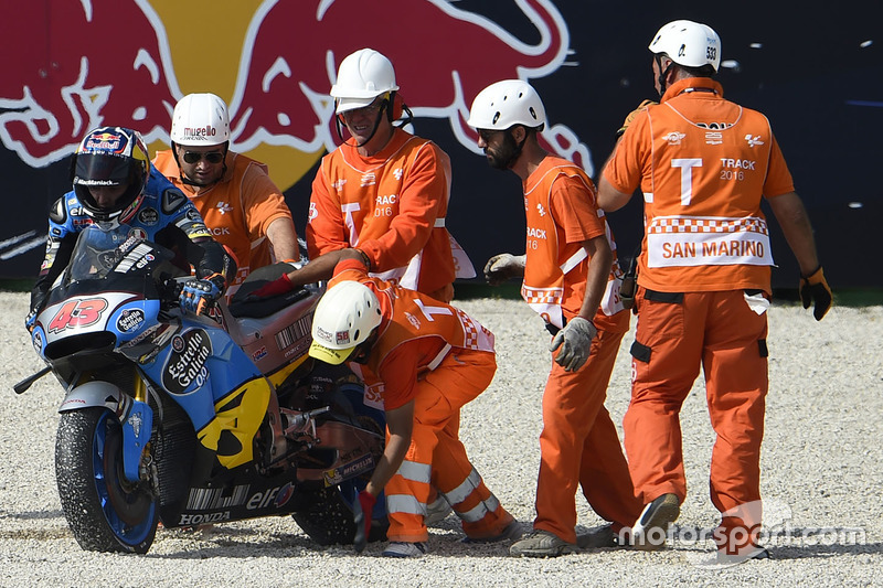 Jack Miller, Marc VDS Racing Honda crash