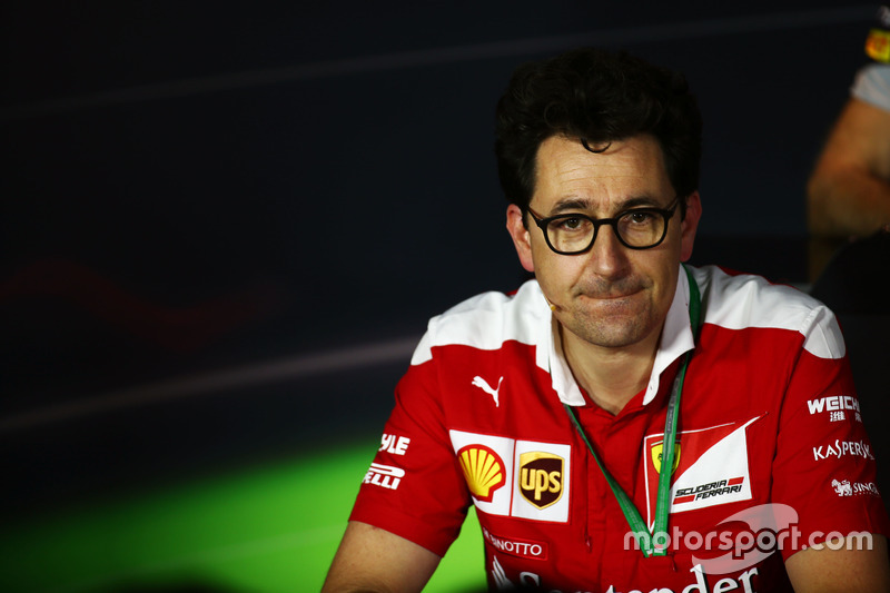 Mattia Binotto, Ferrari Chief Technical Officer in the FIA Press Conference