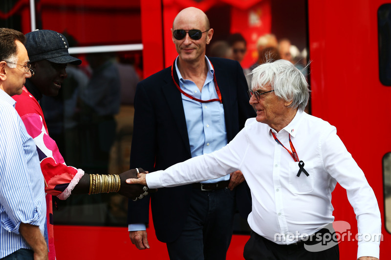 Bernie Ecclestone with Donald Mackenzie, CVC Capital Partners Managing Partner, Co Head of Global In