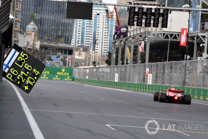 Pit tabelası, Kimi Raikkonen, Ferrari SF71H