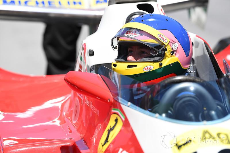 Jacques Villeneuve, Sky Italia drives his Fathers 1978 Canadian GP winning Ferrari 312T3