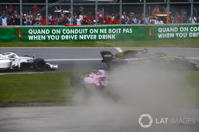 Серхіо Перес, Force India VJM11, Карлос Сайнс, Renault