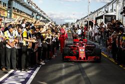 Race winner Sebastian Vettel, Ferrari SF71H in parc ferme