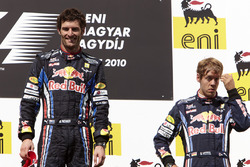 Winner Mark Webber, Red Bull Racing, second place Sebastian Vettel, Red Bull Racing