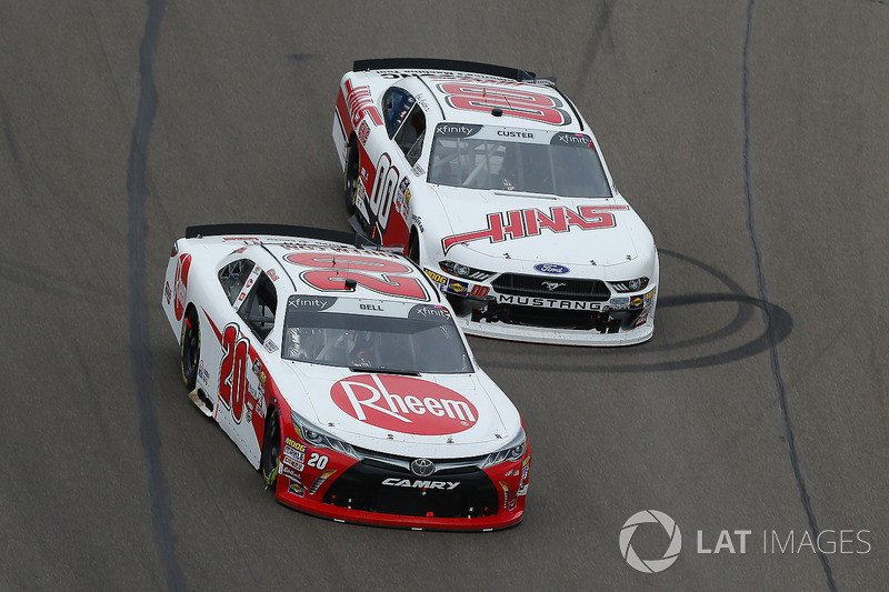 Christopher Bell, Joe Gibbs Racing, Toyota Camry Rheem, Cole Custer, Stewart-Haas Racing, Ford Mustang Haas Automation