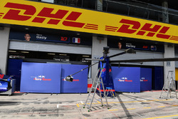 Scuderia Toro Rosso pit box and garage screens