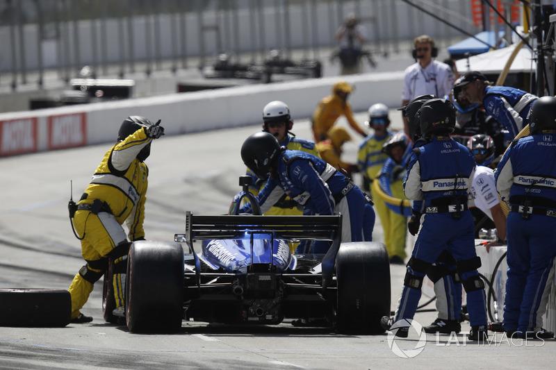 Takuma Sato, Rahal Letterman Lanigan Racing Honda, au stand