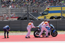 Chute d'Alex Rins, Team Suzuki MotoGP
