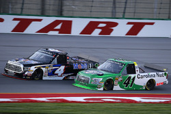 Todd Gilliland, Kyle Busch Motorsports, Toyota Tundra Mobil 1 and Ben Rhodes, ThorSport Racing, Ford F-150 Alpha Energy Solutions