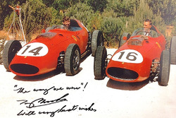 Tony Brooks and Dan Gurney in Ferrari 246 Dinos 1959