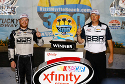 Race winner Tyler Reddick, Chip Ganassi Racing with crew chief Mike Shiplett