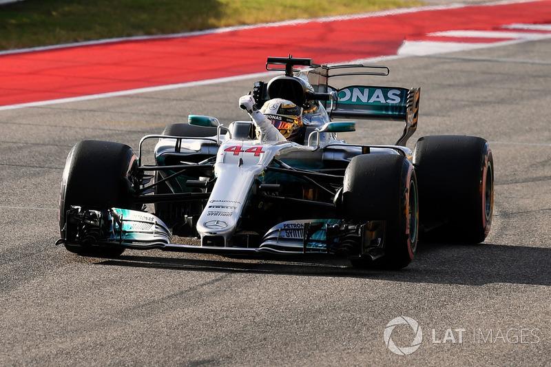 Polesitter Lewis Hamilton, Mercedes-Benz F1 W08