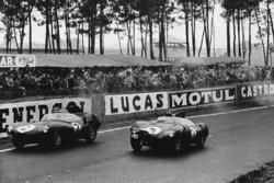 Paul Frere, Desmond Titterington, Jaguar D-type; Jack Fairman, Ken Wharton, Jaguar D-type