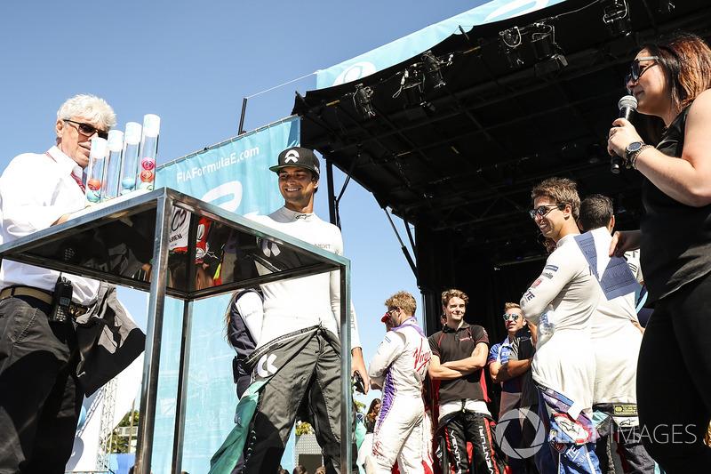 Nelson Piquet Jr., NEXTEV TCR Formula E Team, en la loteria de la calificación