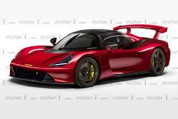Motor1 Dallara road car rendering