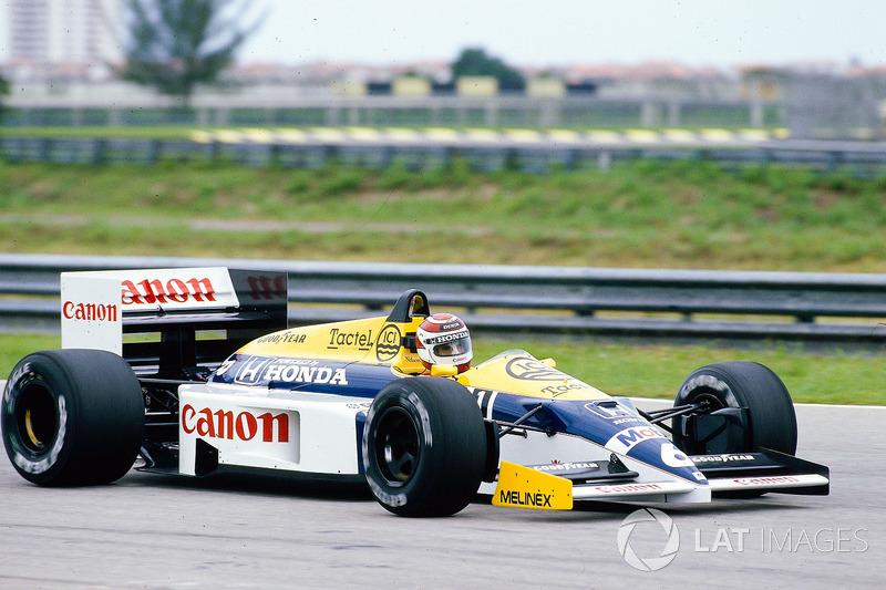 Ganador del GP de Brasil 1986: Nelson Piquet, Williams FW11 Honda