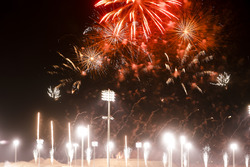 Fireworks over the circuit after the race