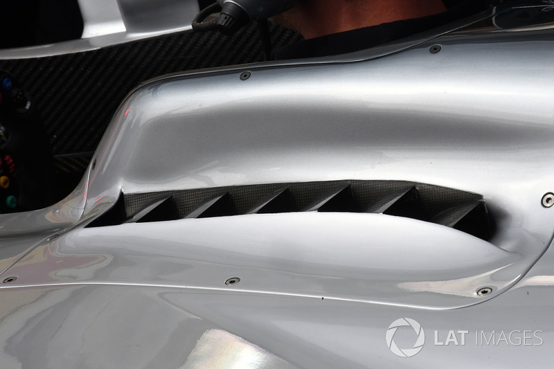 Mercedes-Benz F1 W08 Hybrid aero detalle