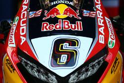 Bike von Stefan Bradl, Honda World Superbike Team, mit Startnummer 69 von Nicky Hayden