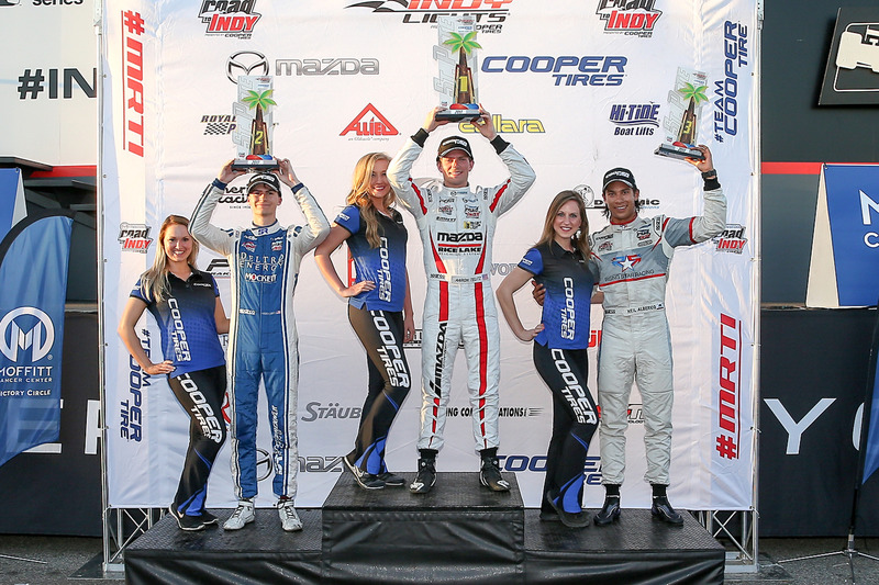 Podium: ganador, Aaron Telitz, Belardi Auto Racing, segundo, Colton Herta, Andretti Steinbrenner Rac