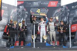 Podium Silver cup: Race winner #85 Mercedes-AMG Team HTP Motorsport, Mercedes-AMG GT3: Fabian Schill