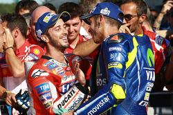 1. Andrea Dovizioso, Ducati Team; 3. Valentino Rossi, Yamaha Factory Racing