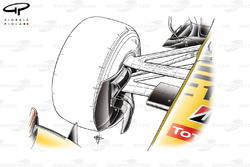 Renault R30 front brake duct