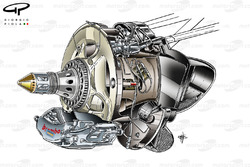 Red Bull RB8 front brake and axle detail