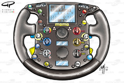 Ferrari F2002 steering wheel