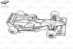 Ferrari F310 (648) 1996 schematic overview