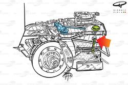 Arrows A20 rear suspension