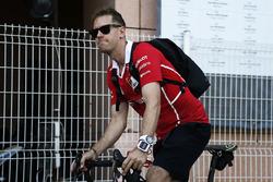 Sebastian Vettel, Ferrari on a bike