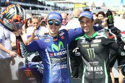 Ganador, Maverick Viñales, Yamaha Factory Racing y el segundo, Johann Zarco, Monster Yamaha Tech 3