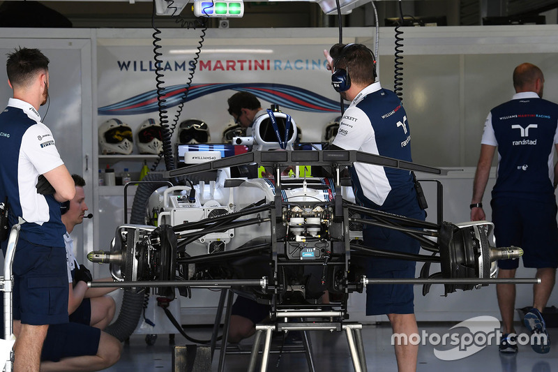 Williams FW40 in the garage