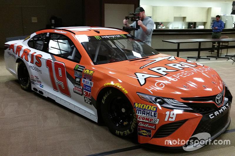 Car of Daniel Suarez, Joe Gibb...