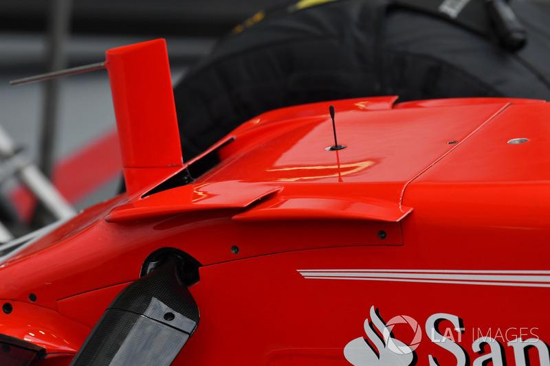 Vue détaillée du nez la Ferrari SF70H