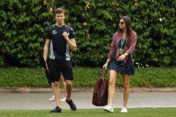 Daniil Kvyat, Scuderia Toro Rosso e la fidanzata Kelly Piquet