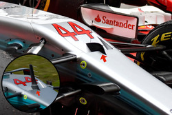 Mercedes AMG F1 W08: Frontpartie, Detail