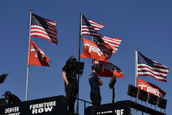 Toyota flags, American flags