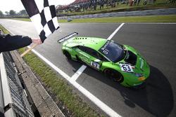 #63 GRT Grasser Racing Team Lamborghini Huracan GT3: Christian Engelhart, Mirko Bortolotti, takes th