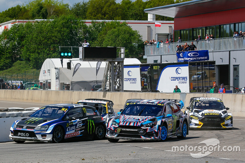 Petter Solberg, PSRX Volkswagen Sweden VW Polo Gti, Andreas Bakkerud, Hoonigan Racing Division Ford