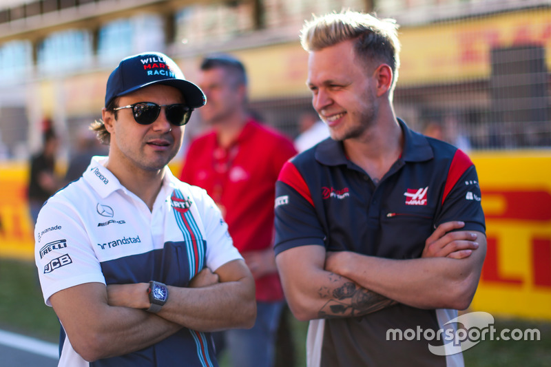 Felipe Massa, Williams and Kevin Magnussen, Haas F1
