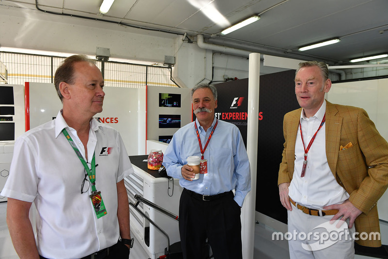Chase Carey, Chief Executive Officer and Executive Chairman of the Formula One Group and Sean Bratches, Formula One Managing Director, Commercial Operations