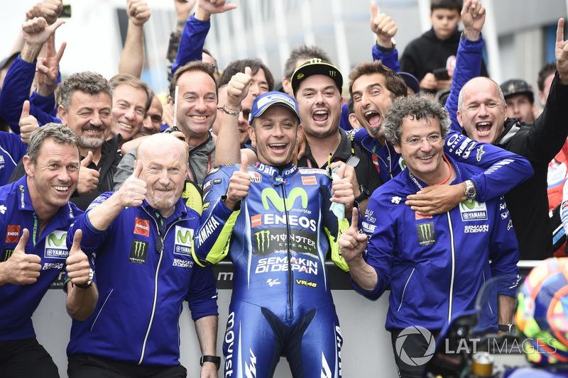 Ganador de la carrera Valentino Rossi, Yamaha Factory Racing