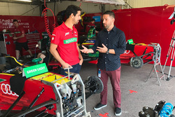 Lucas di Grassi with presenter Derek DeAngelis